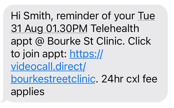 Telehealth SMS Reminder